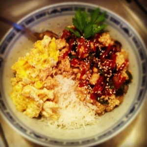 Scrambled Tofu with Oyster Sauce & Basil
