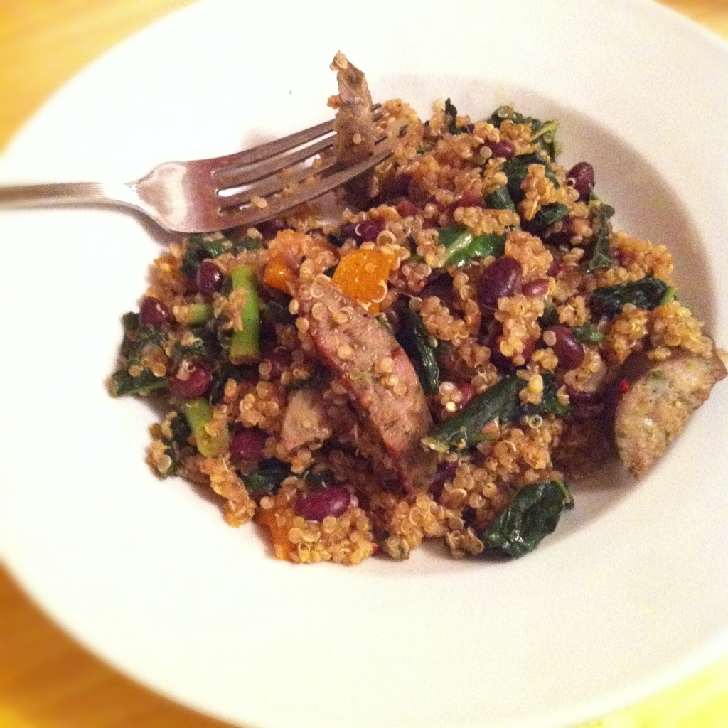 Quinoa with Sausage and Black Beans