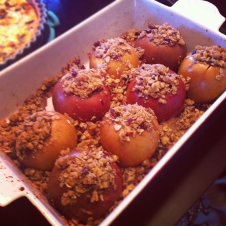 Stuffed Baked Apples with Cranberries and Walnuts