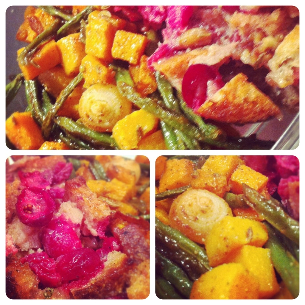 Cranberry Stuffing and Smoky Roasted Veggies