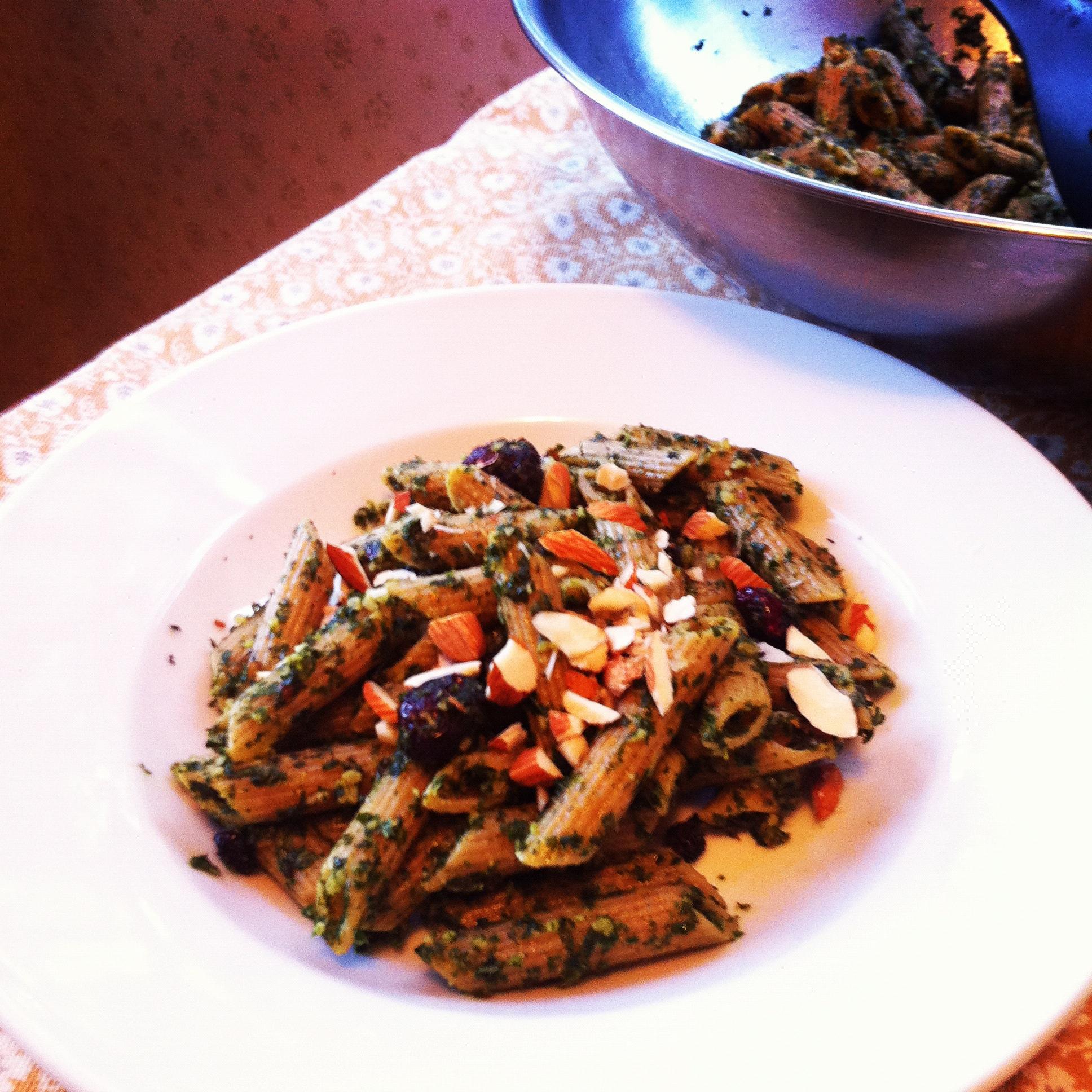 roasted kale pesto