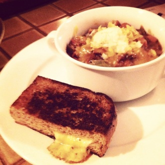 Bacon Chili & Grilled Cheese