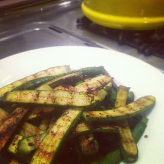 Grilled Baby Zucchini Fries