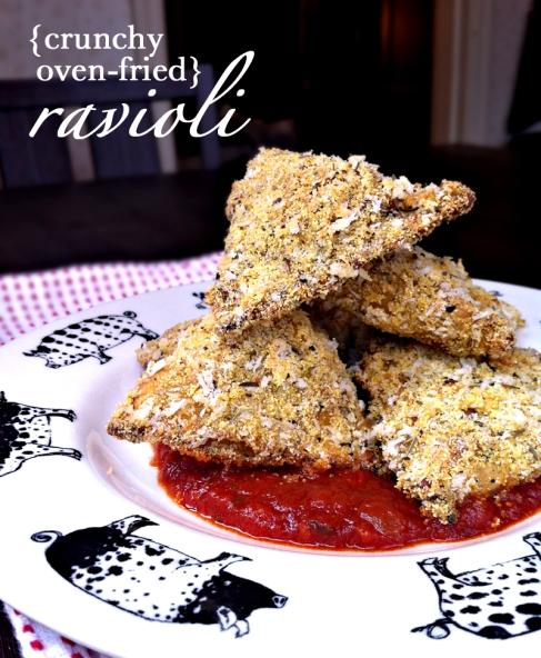 Crunchy Oven-Fried Ravioli