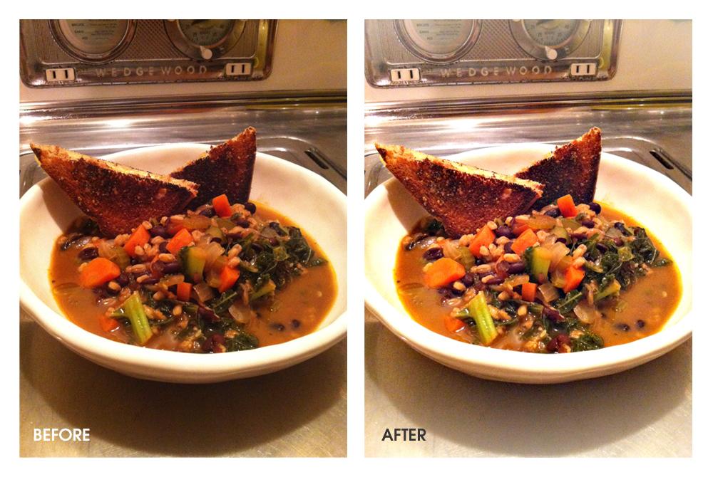 Kale Soup Photoshop Side-by-Side