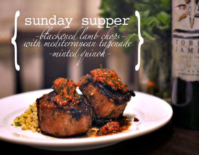 Lamb Chops with Tapenade & Quinoa