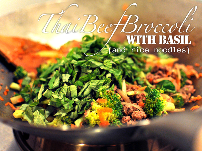 Thai Beef Broccoli w/ Basil Wok