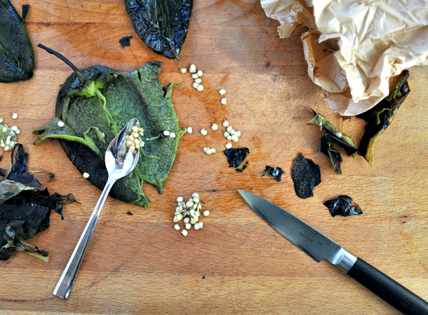 Peeled and Seeded Roasted Poblanos