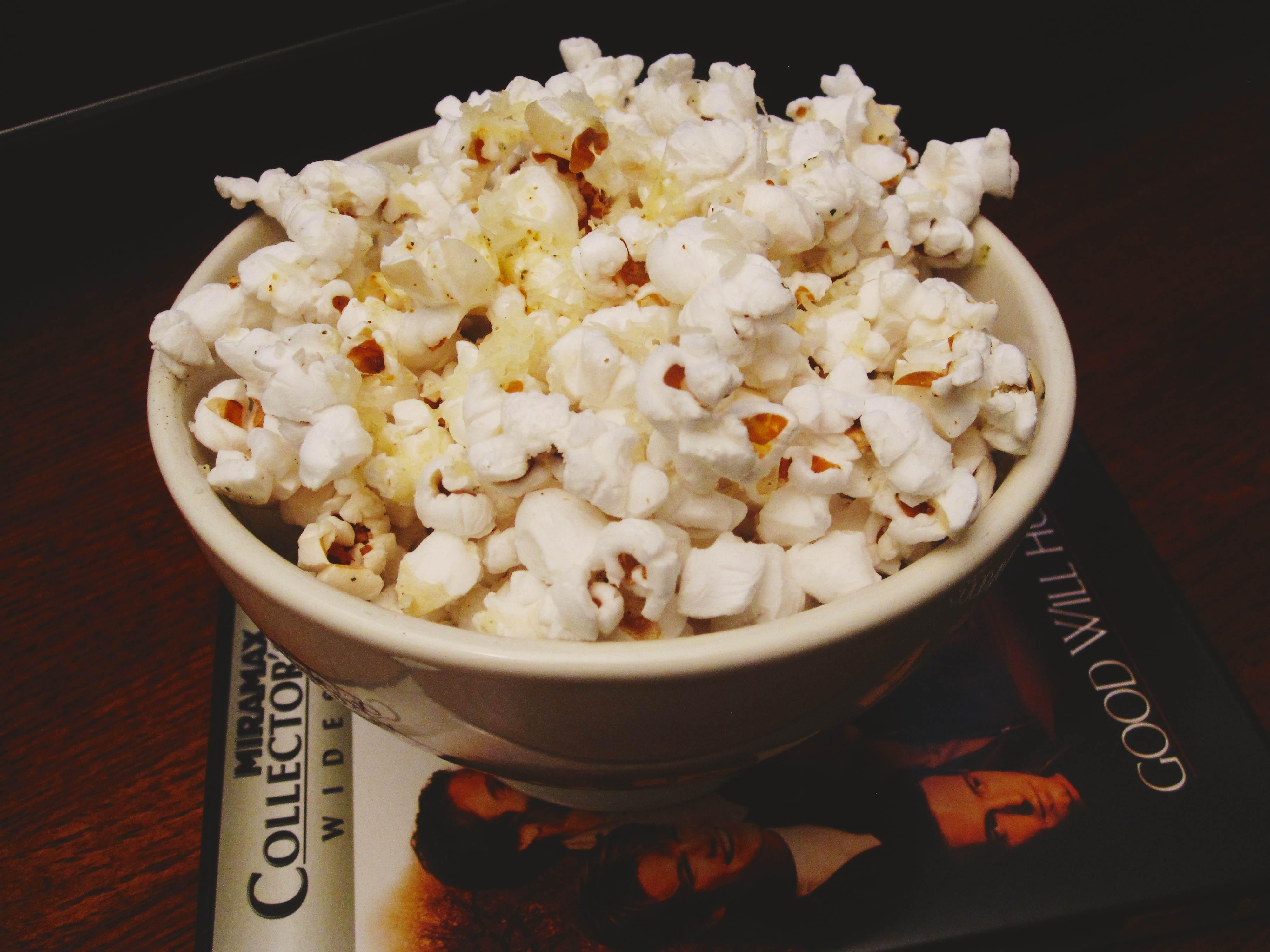 Garlic Gruyere Popcorn