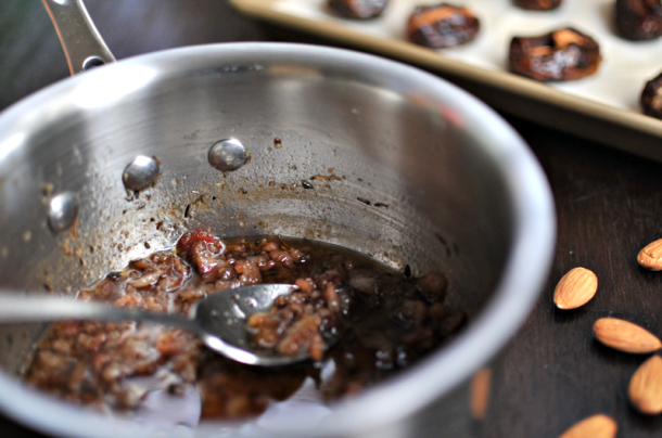 Almond-Stuffed Dates with Bourbon Bacon Jam | the pig and quill