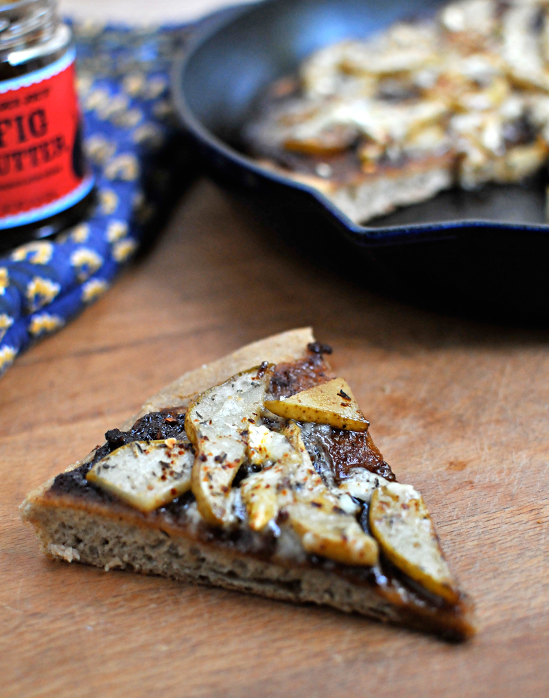 Figgy Brie & Roasted Pear Skillet Pizza   the pig& quill