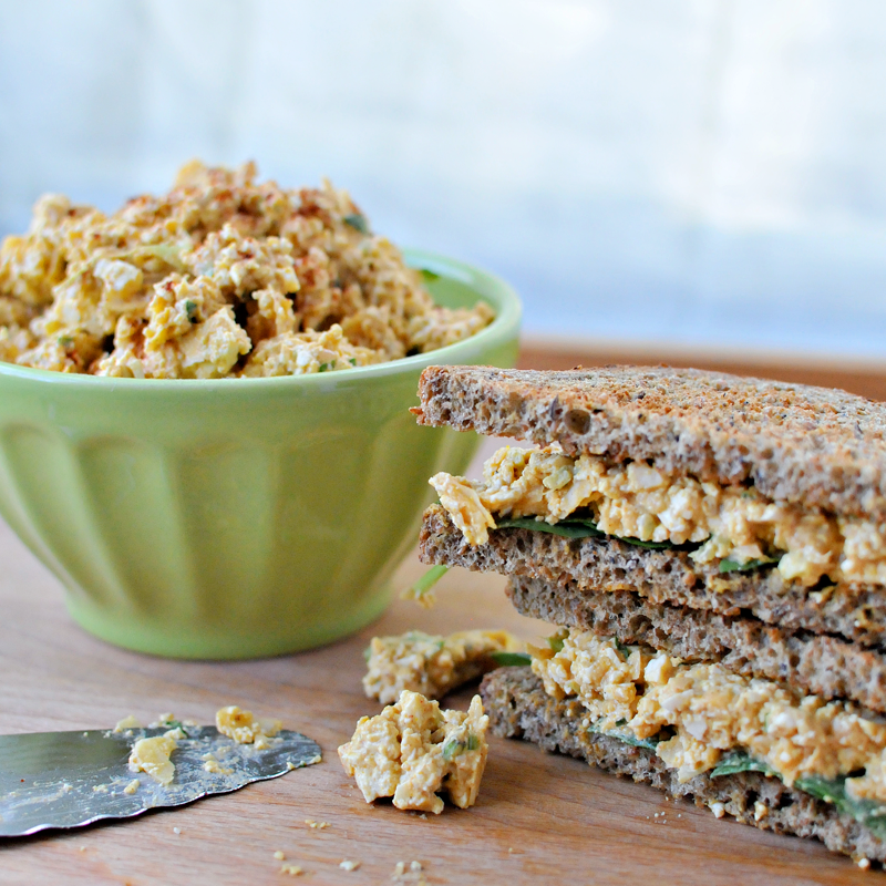 Vegan Curried Tofu & Chickpea Salad | the pig & quill