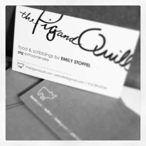 Biz Card | the pig & quill