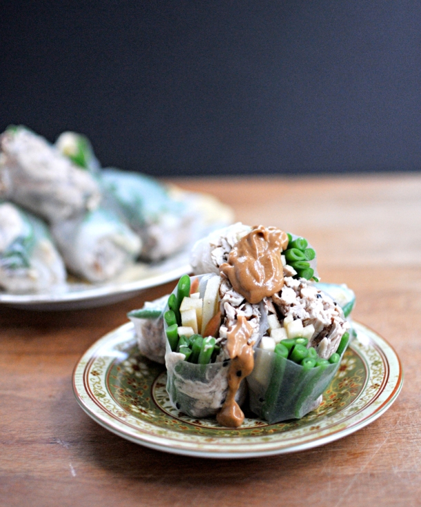 Five-Spice Chicken & Green Bean Spring Roll | the pig & quill