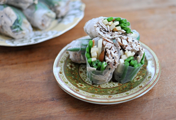 Five-Spice Chicken & Green Bean Spring Roll   the pig & quill