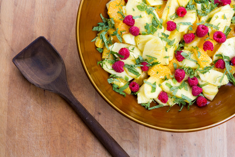 Minted Pineapple Salad | the pig & quill (photo by Cristin More)