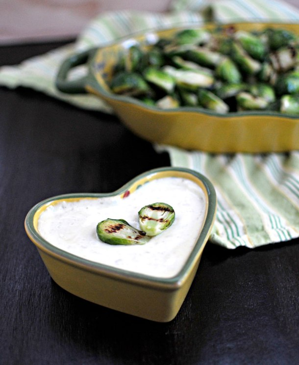 Grilled Brussel Sprouts with Jalapeno-Honey Aioli | the pig & quill