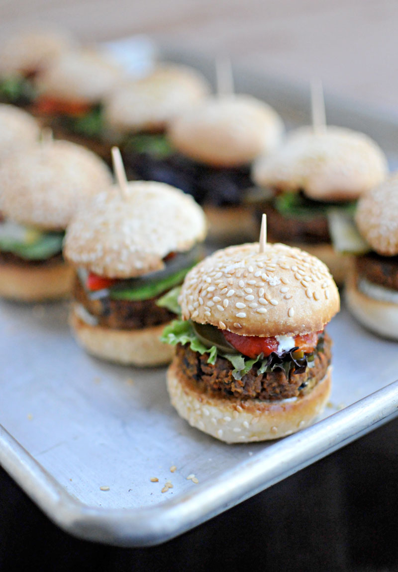 Black Bean & Sweet Potato Sliders (vegan) // the pig & quill
