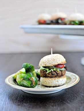 Black Bean & Sweet Potato Sliders with Sweet-Tart Tzatziki | the pig & quill