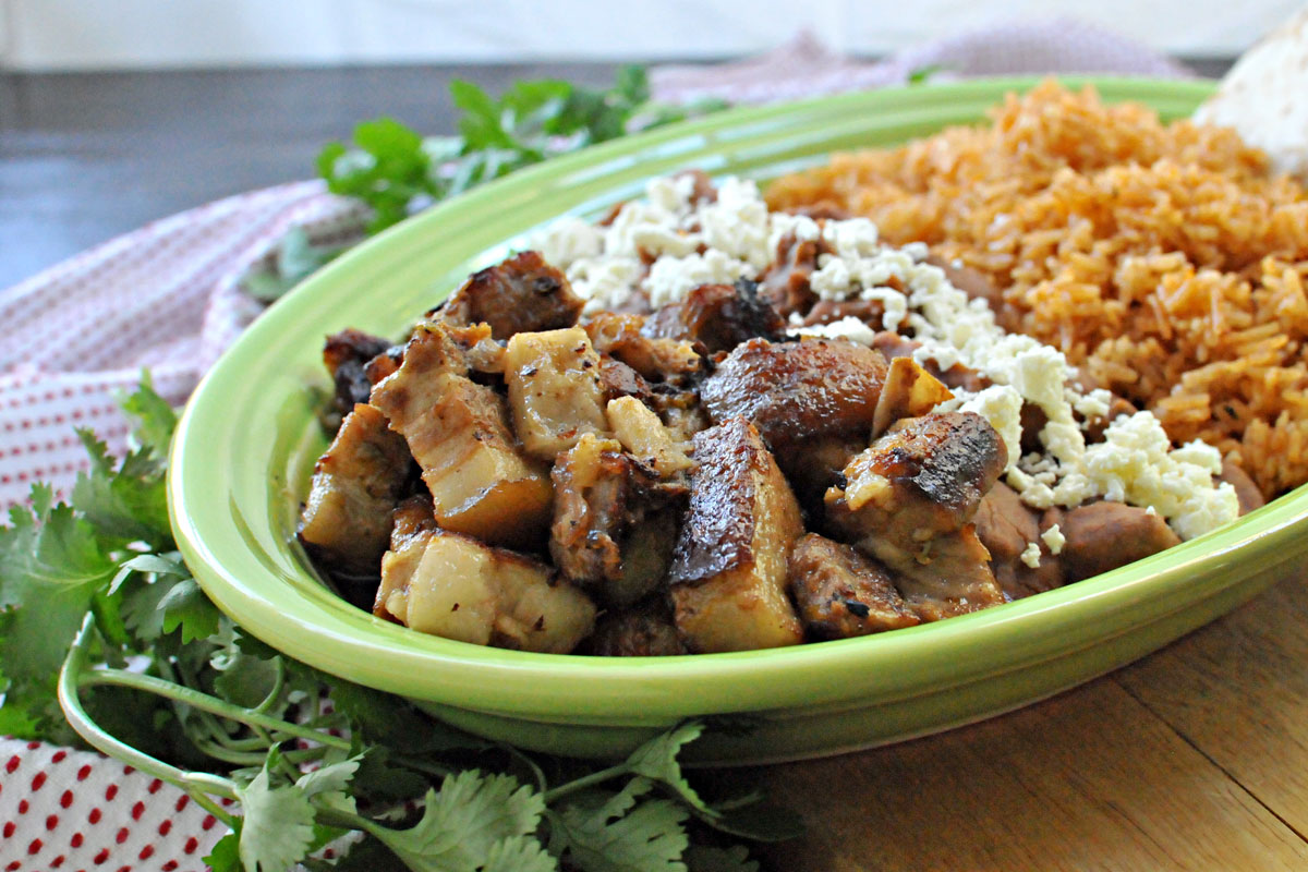 Crispy Carnitas-Style Pork Belly & Spanish Rice   the pig & quill