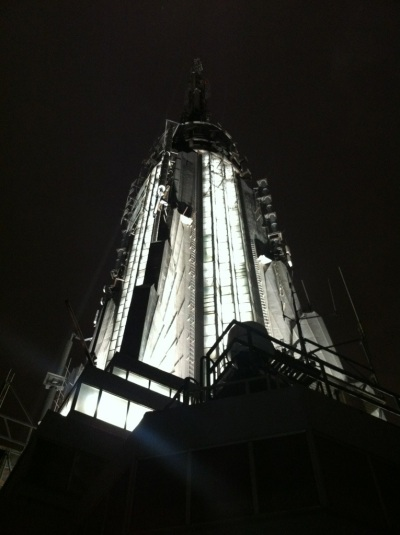 NYC Day 1: Empire State Building at night -- no filter! [the pig & quill]