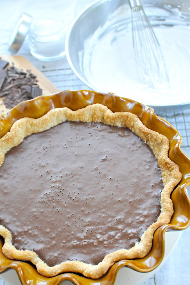 Salted Chocolate Creme Pie with (Vegan) Coconut Whip | the pig & quill