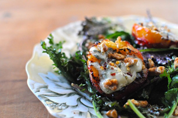Gorgonzola Grilled Plums with Maple Syrup & Chilies | the pig & quill