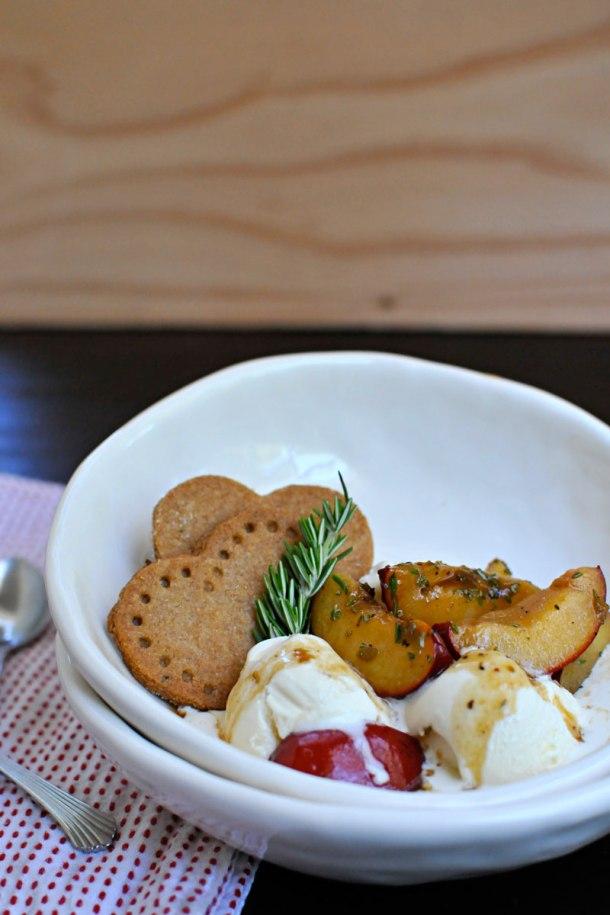 Drunken Plums with Mustard-Caramel Sauce | the pig & quill