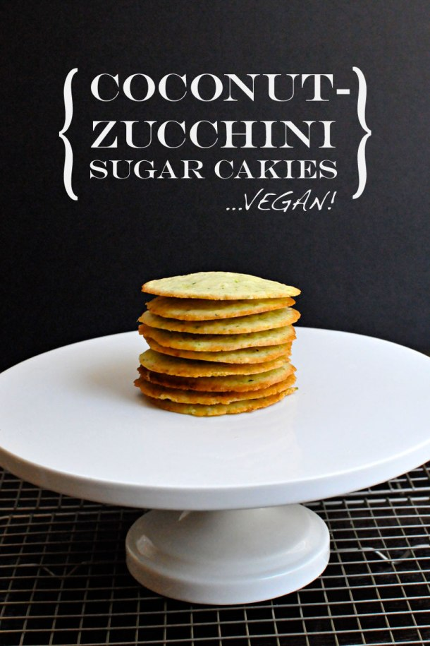 Coconut-Zucchini Sugar Cakies {vegan} | the pig & quill