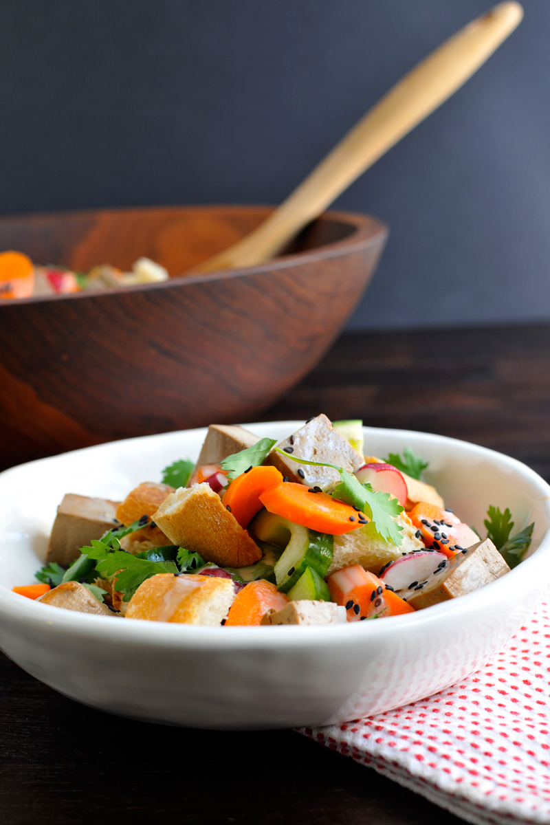 Baked Tofu Banh Mi Salad (with vegan variation)   the pig & quill