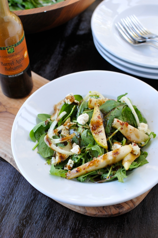 Pear & Fennel Salad with Blue Cheese & Balsamic | the pig & quill