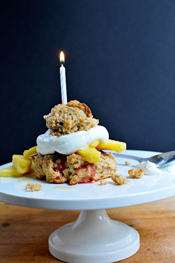 Fresh Pineapple Shortcakes with Raspberry Sorbet | the pig & quill