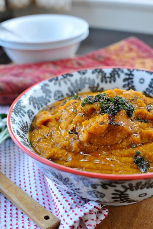 Pumpkin Polenta w/ Browned Butter & Sage | the pig & quill