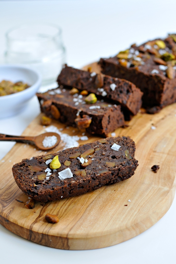 Salted Chocolate & Pistachio Energy Bars (vegan with GF variation) | the pig & quill
