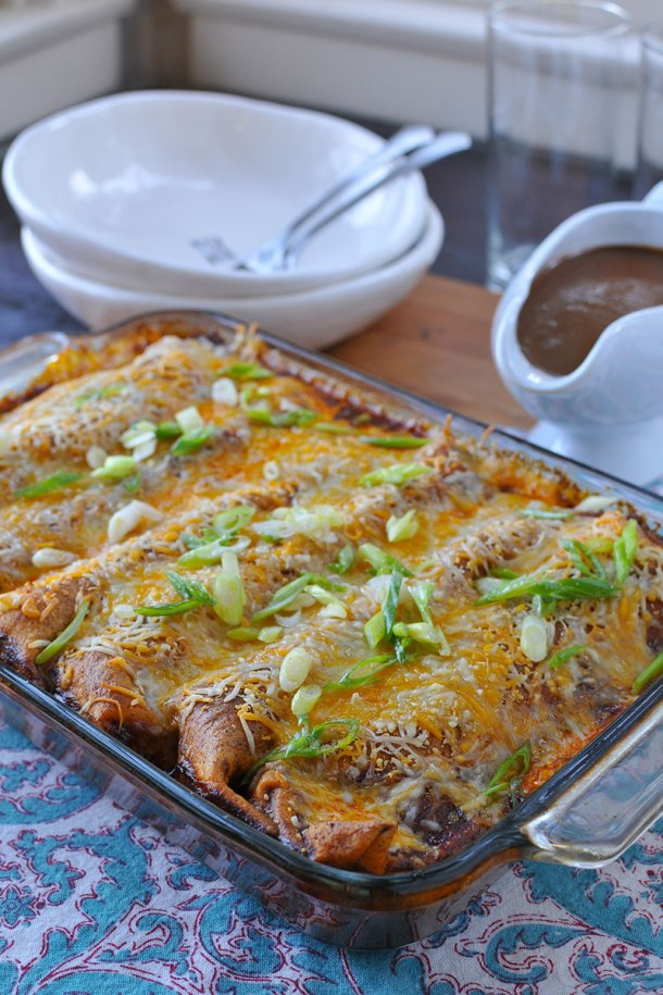 Easy Weeknight Homestyle Bison (or Beef) Enchiladas   the pig & quill