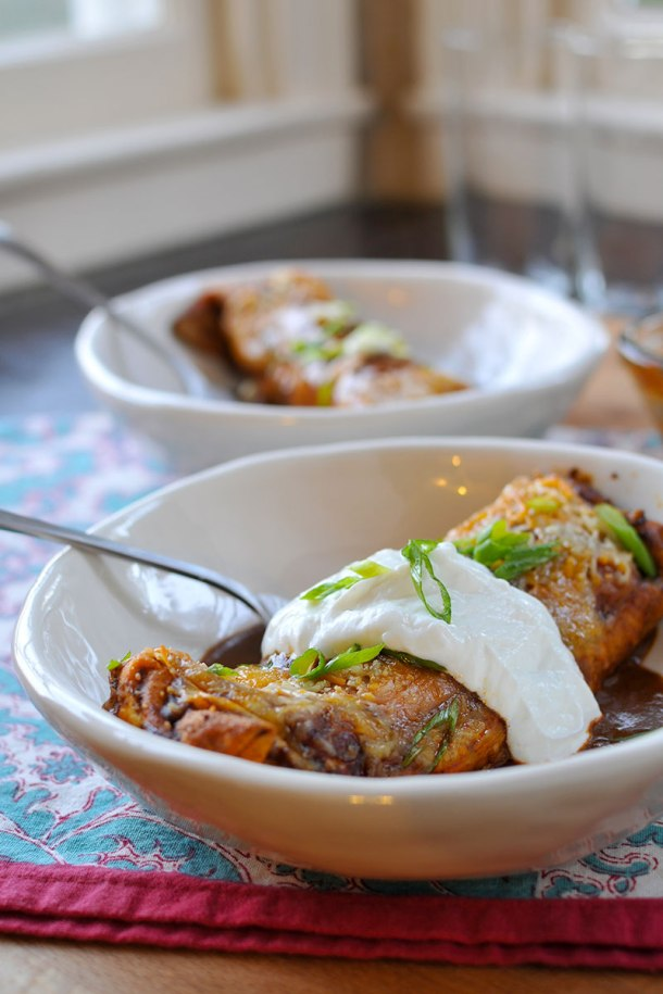Easy Weeknight Homestyle Bison (or Beef) Enchiladas | the pig & quill