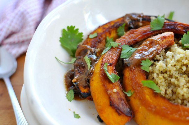 Roasted Miso-Glazed Pumpkin (vegan & gluten-free) | the pig & quill