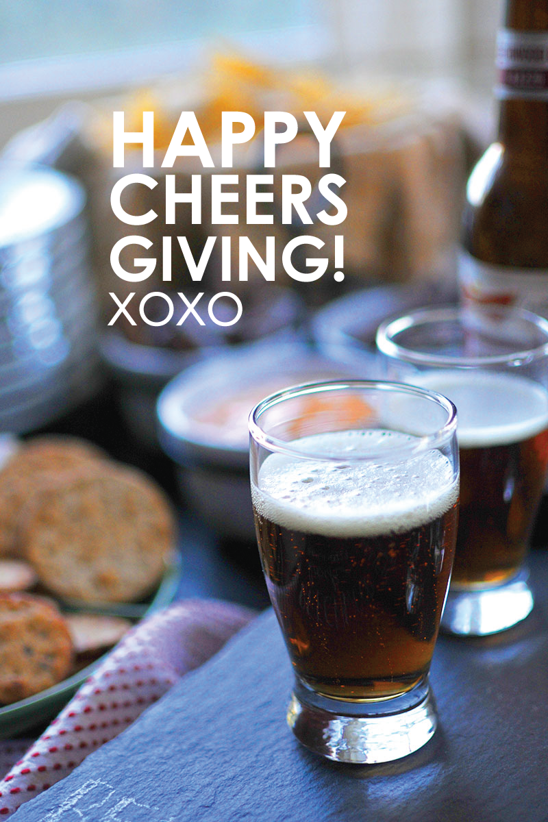 Happy Cheersgiving! xoxo the pig & quill