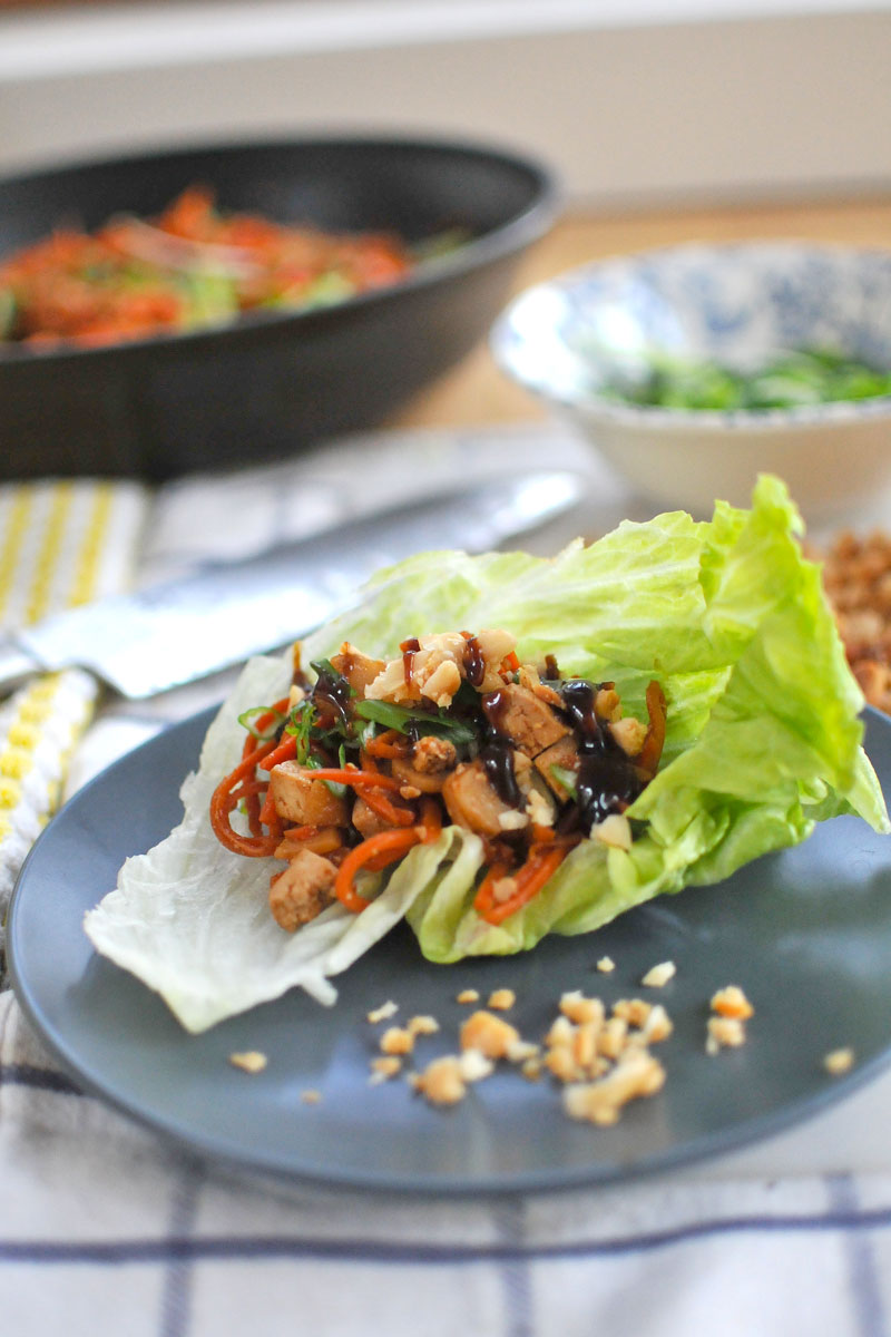 Asian Tofu Lettuce Wraps (vegan & gluten-free) // the pig & quill
