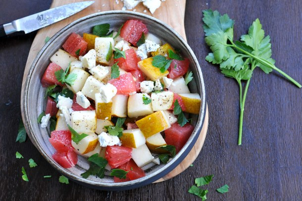 Grapefruit, Gorgonzola, Pear & Parsley Salad (gluten-free) | the pig & quill