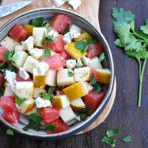 Grapefruit, Gorgonzola, Pear & Parsley Salad(gluten-free)