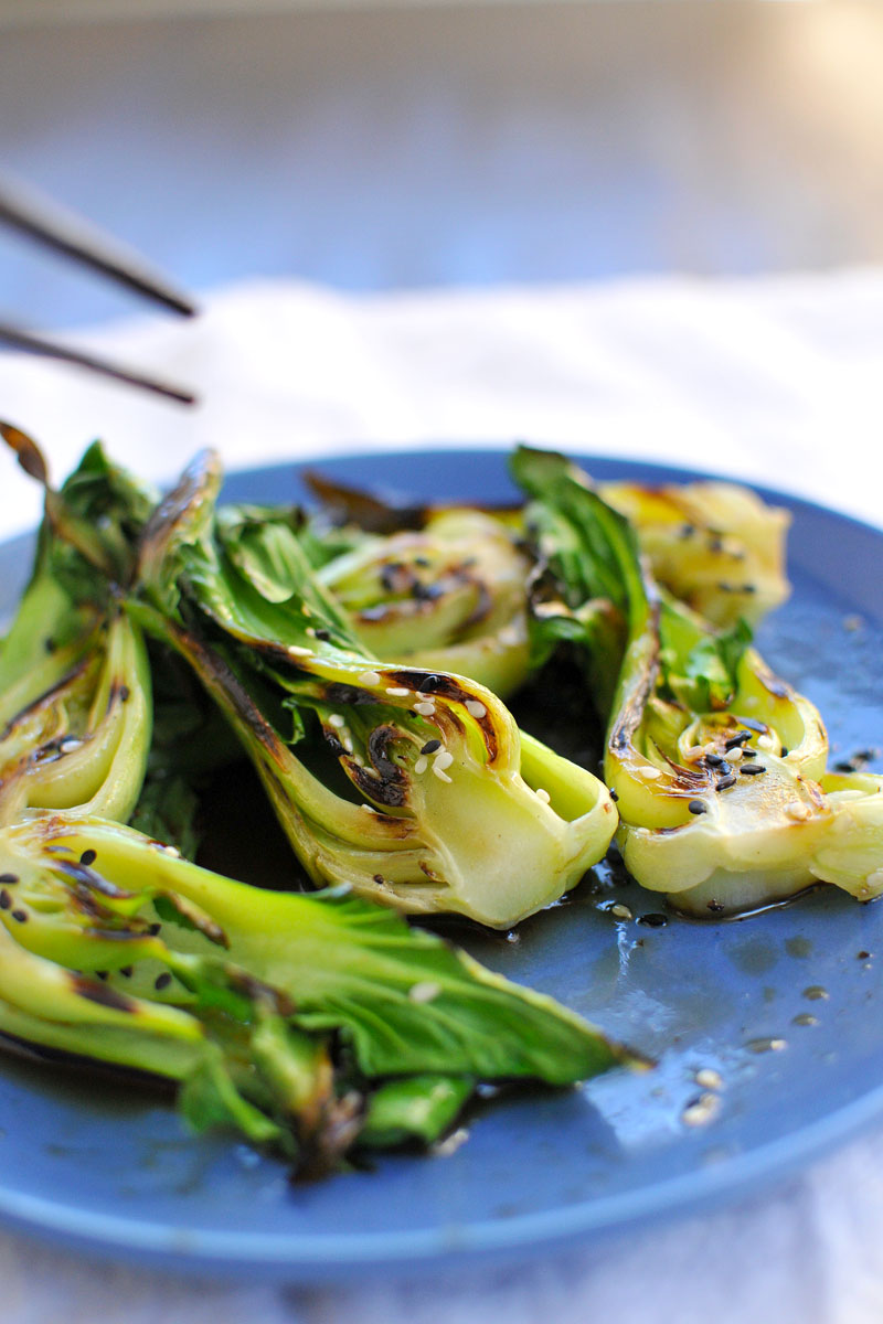 Steam-Grilled Baby Bok Choy with Sesame Soy Vinaigrette // the pig & quill