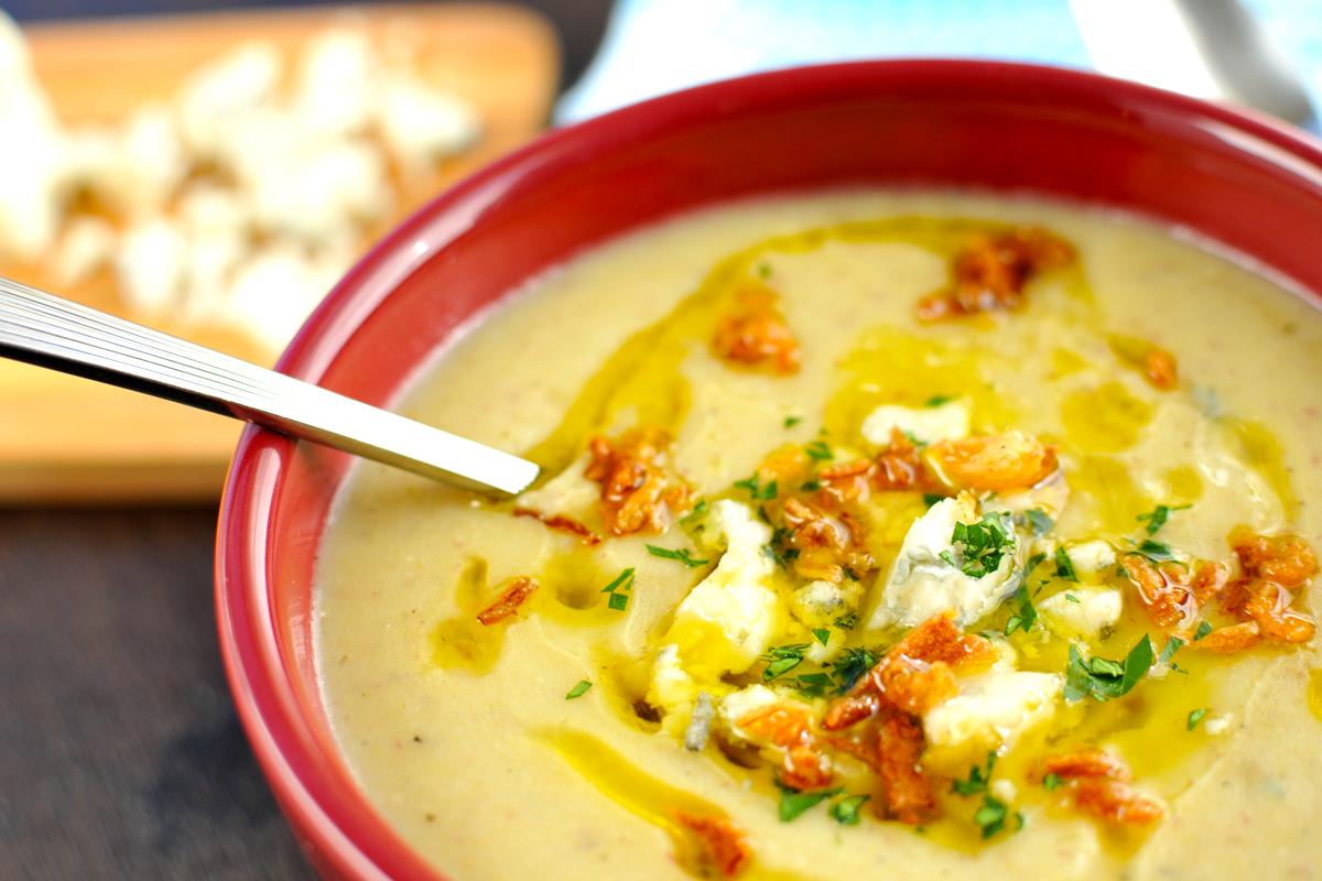 Creamy Potato, Leek & Gorgonzola Soup (gluten-free) | the pig & quill