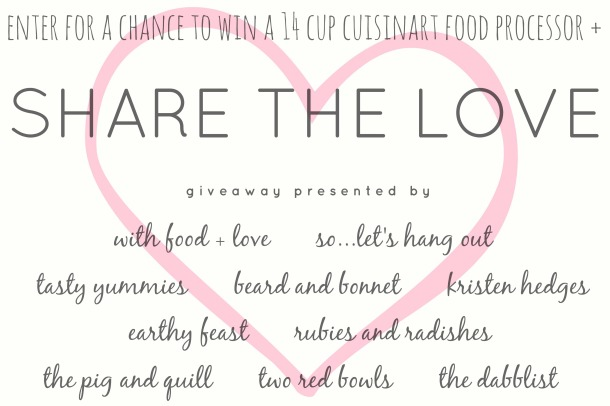 Share the Love 14-Cup Cuisinart GIVEAWAY! (Enter by Feb 21st) // the pig & quill