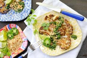 Thai-Style Roasted Cauli Steaks (guest posting atSLHO)