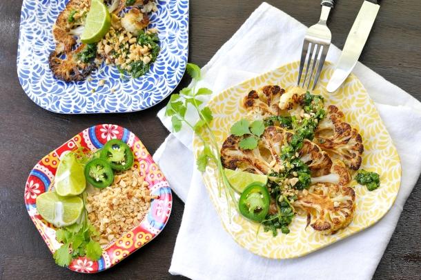 Thai-Style Roasted Cauli Steaks | the pig & quill #glutenfree #vegan