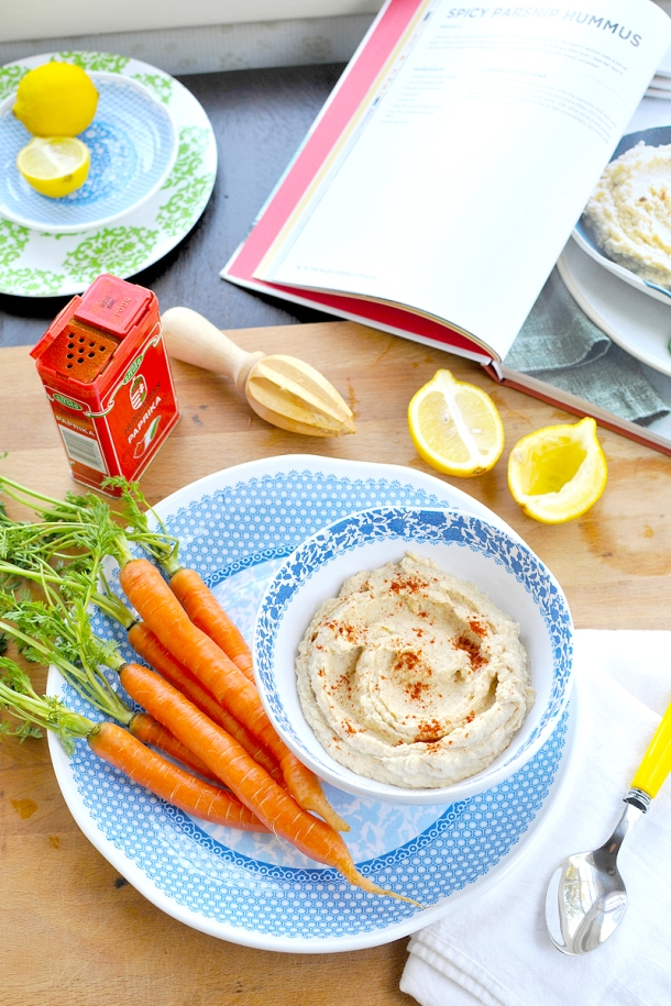 """The Paleo Foodie"" Spicy Parsnip Hummus // the pig & quill #glutenfree #vegan #vegetarian #recipe #thepaleofoodie"