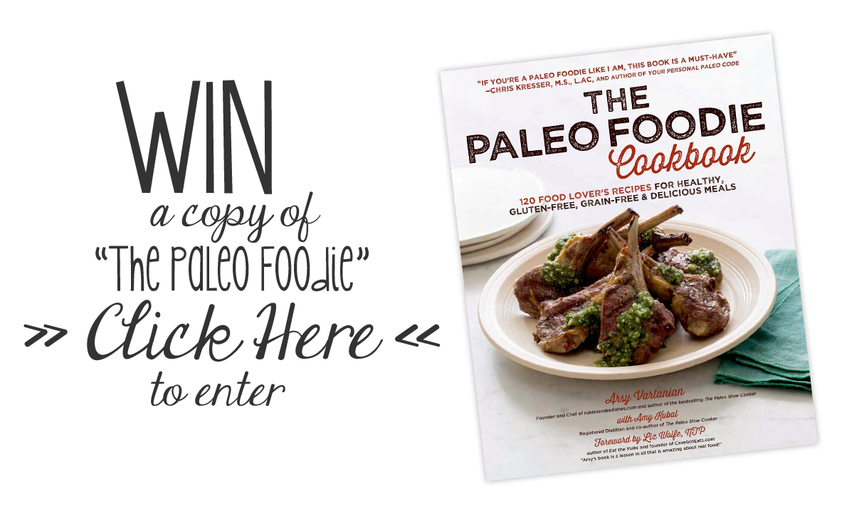 "Win a copy of ""The Paleo Foodie Cookbook""! Enter by Friday, April 11th! // the pig & quill"