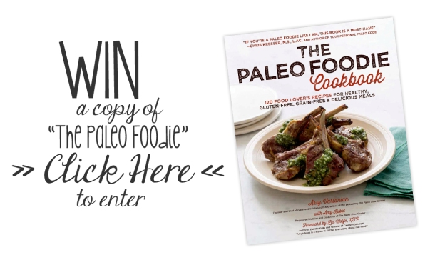"""Win a copy of """"The Paleo Foodie Cookbook""""! Enter by Friday, April 11th! // the pig & quill"""