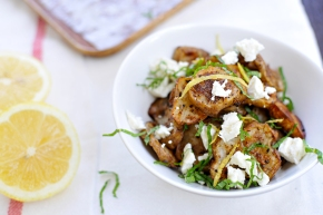 Masala Roasted Sunchokes with Feta, Mint & Lemon (gluten-free)